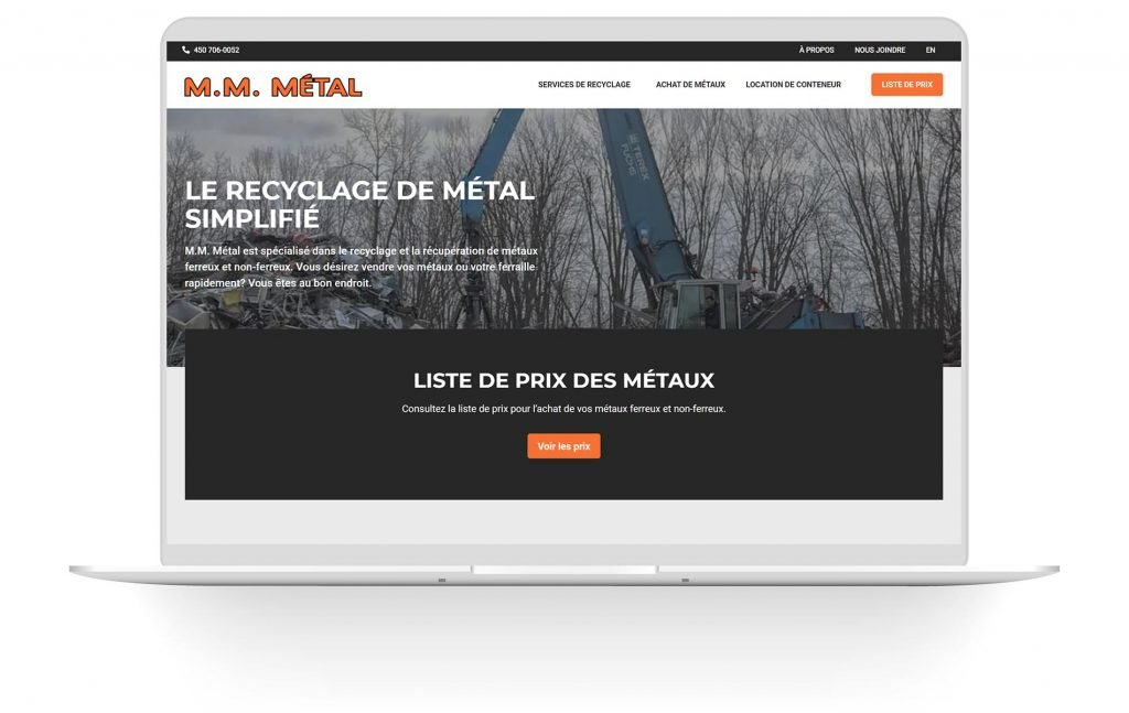 Refonte web M.M. Métal
